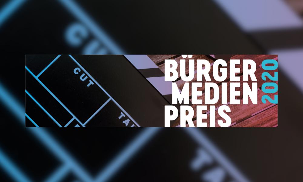 Jetzt Beiträge einreichen – Bürgermedienpreis 2020
